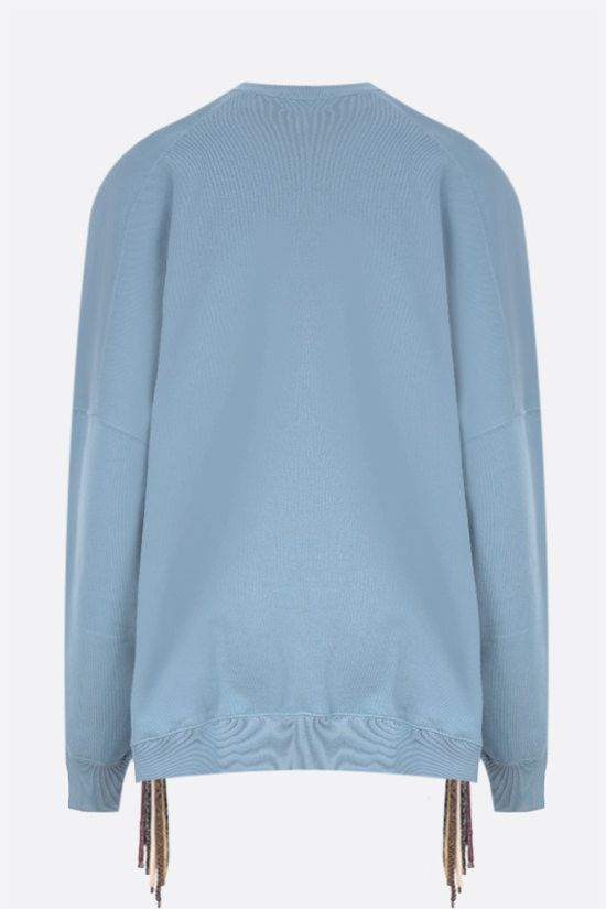 AMBUSH: Multicord oversize cotton sweatshirt Color Blue_2
