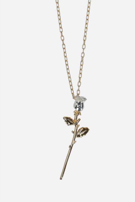 AMBUSH: Rose Charm silver necklace Color Gold_2