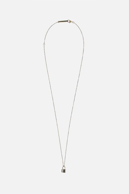 AMBUSH: Ambush Petit Series Padlock silver necklace Color Gold_1