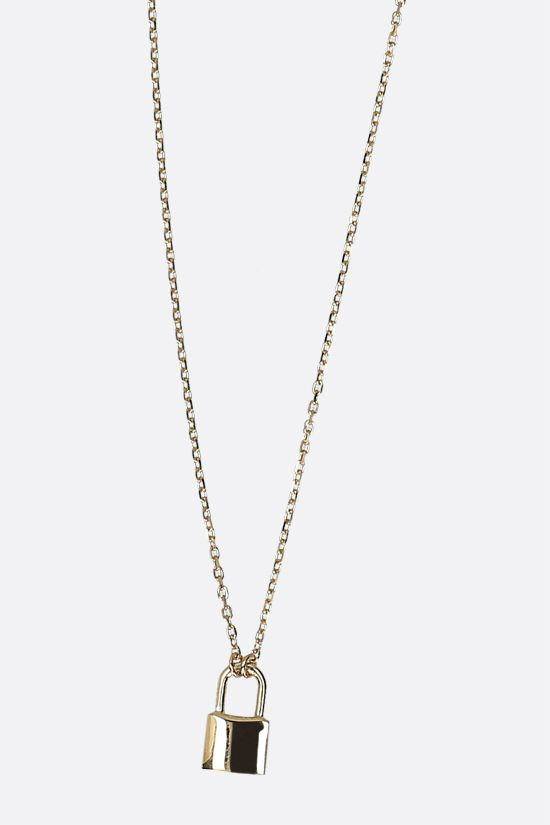 AMBUSH: Ambush Petit Series Padlock silver necklace Color Gold_2