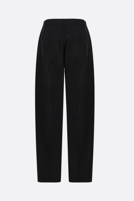 AMBUSH: technical wool tapered-fit pants Color Black_2