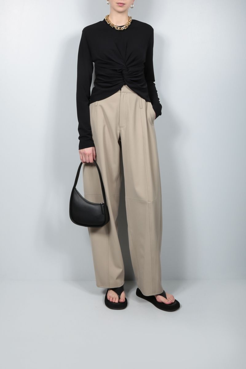 AMBUSH: technical wool tapered-fit pants Color Neutral_2