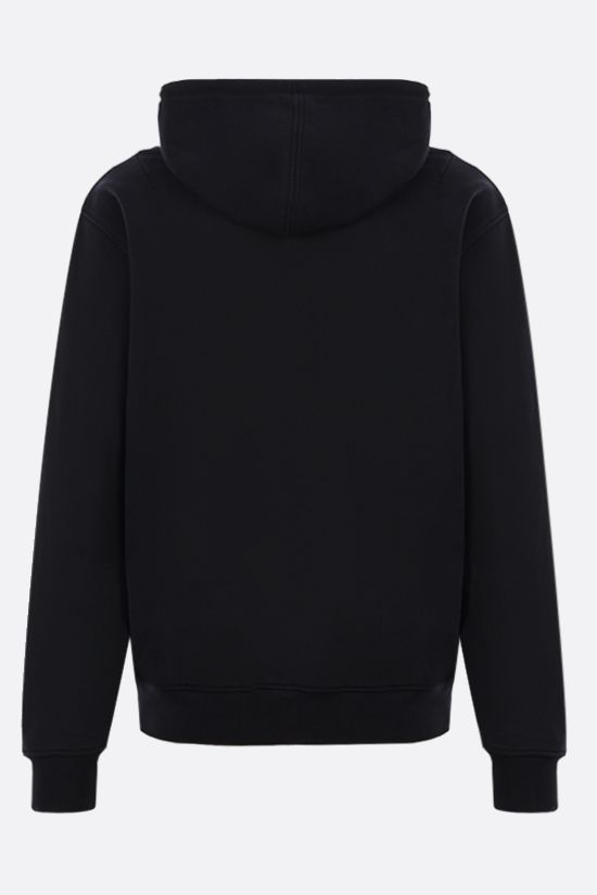 AMI PARIS: Ami de Coeur organic cotton hoodie Color Black_2