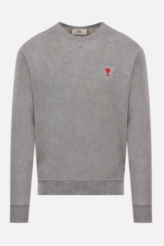 AMI PARIS: Ami de Coeur organic cotton sweatshirt Color Grey_1