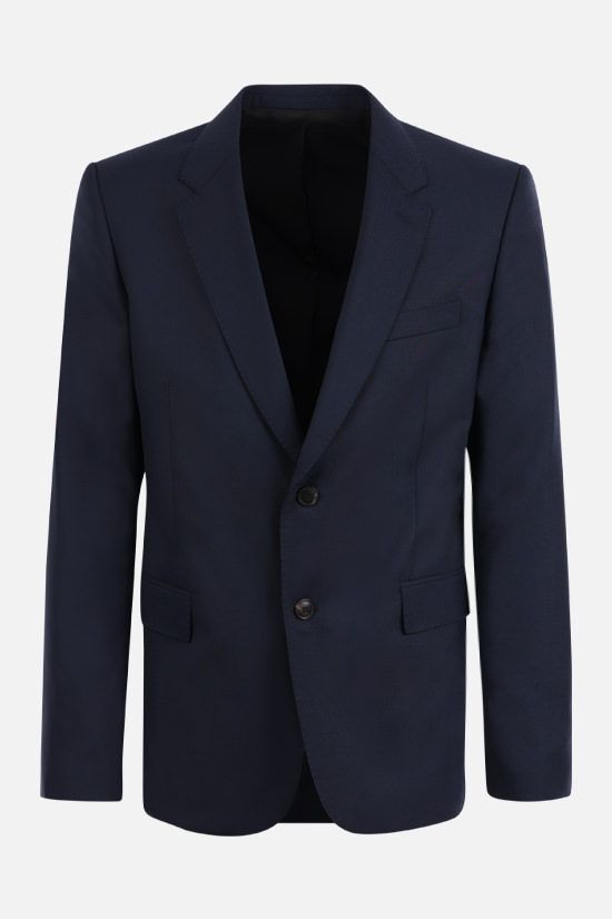 AMI PARIS: single-breasted wool jacket Color Blue_1