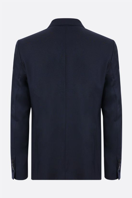 AMI PARIS: single-breasted wool jacket Color Blue_2