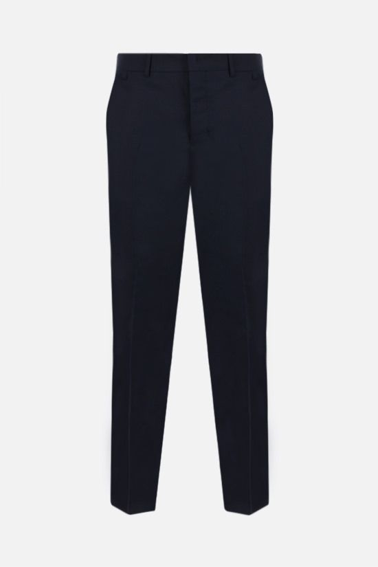 AMI PARIS: slim-fit wool pants Color Blue_1