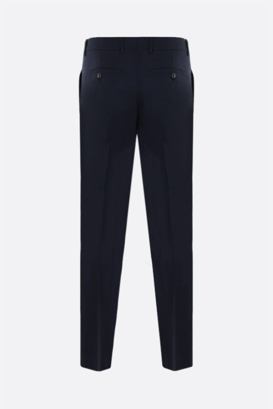 AMI PARIS: slim-fit wool pants Color Blue_2