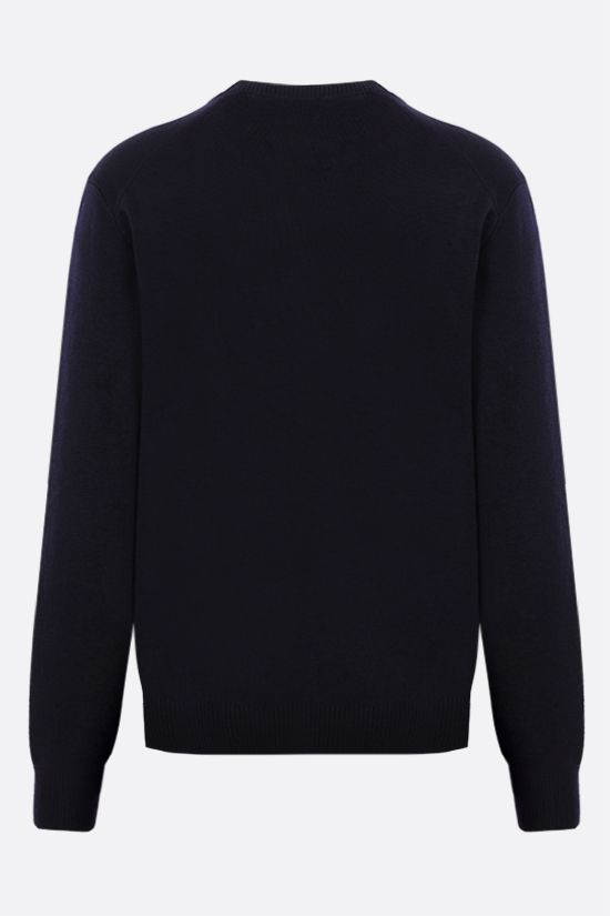 AMI PARIS: Ami de Coeur merino wool pullover Color Blue_2
