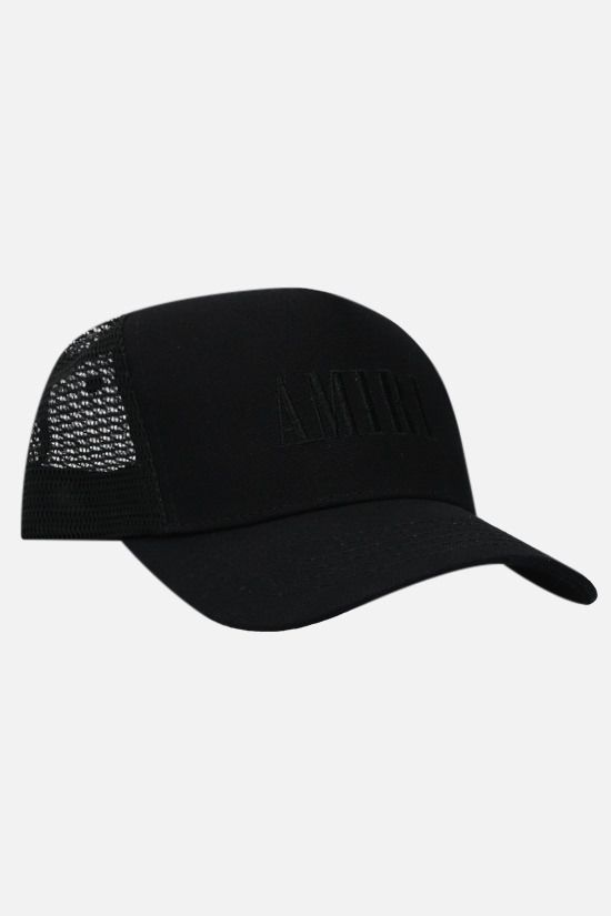 AMIRI: Amiri Core Logo canvas and mesh baseball cap Color Black_2