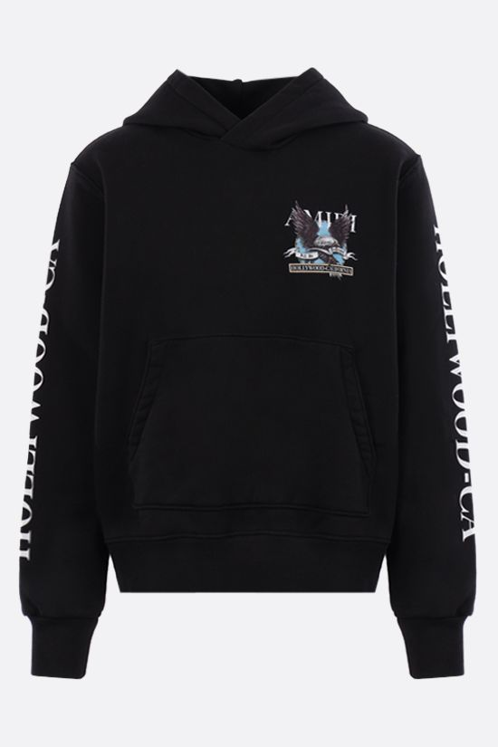 AMIRI: Eagle Hollywood cotton hoodie Color Black_1
