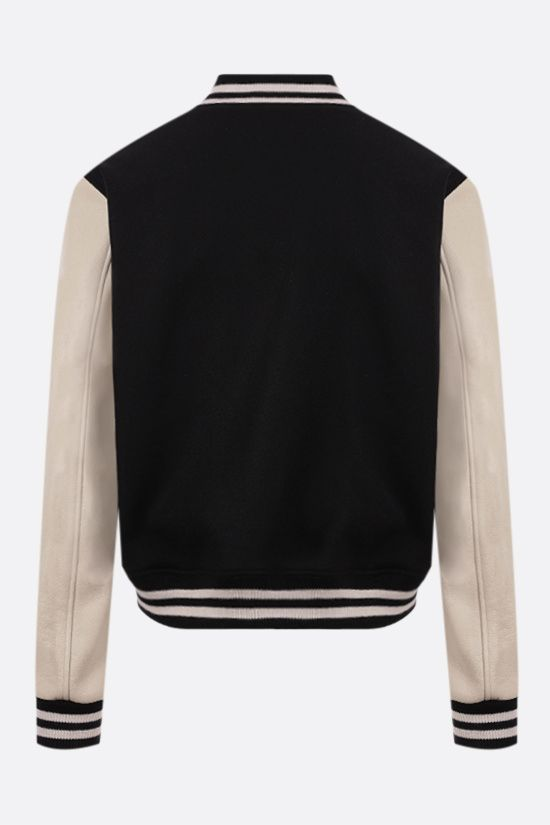 AMIRI: Amiri Varsity technical wool and leather bomber jacket Color Black_2