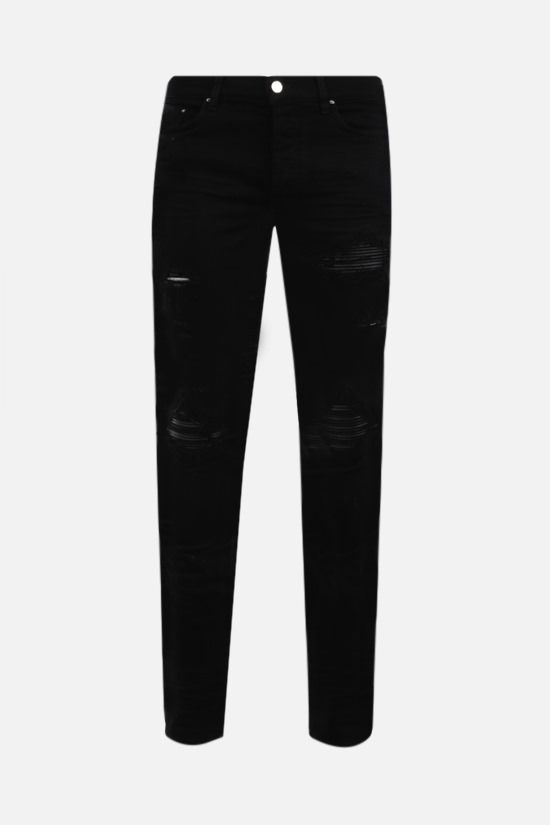 AMIRI: MX1 distressed-effect jeans Color Black_1