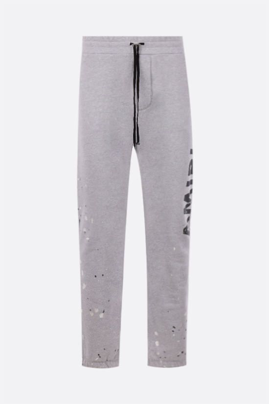 AMIRI: Army Paint cotton joggers Color Grey_1