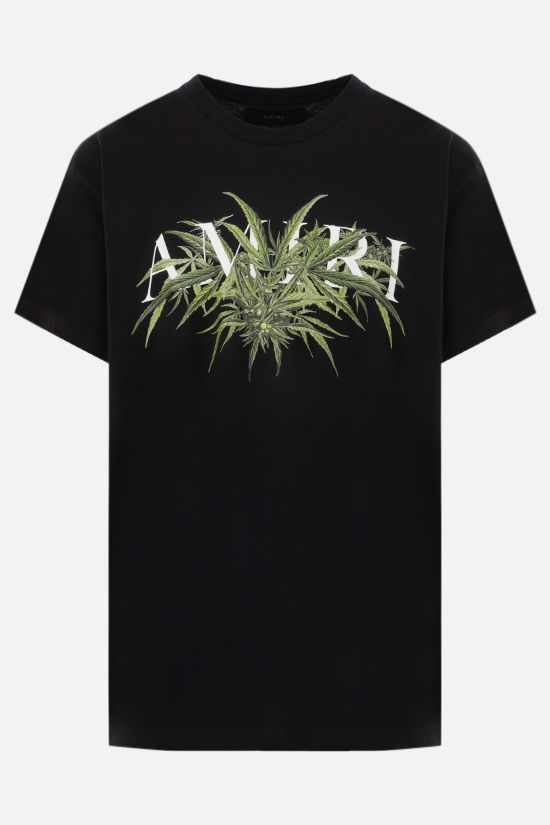 AMIRI: Cannabis Diagram cotton t-shirt Color Black_1