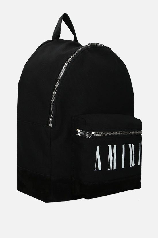 AMIRI: Core Logo canvas backpack Color Black_2