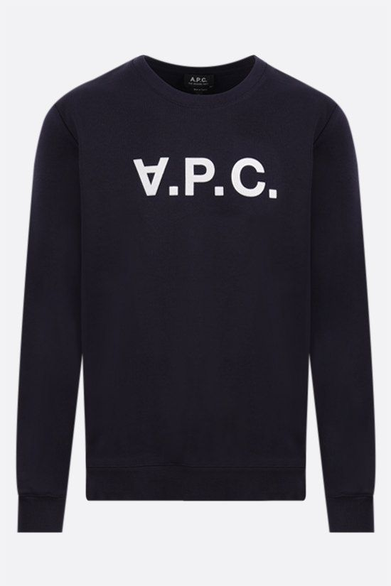 A.P.C.: VPC cotton sweatshirt Color Blue_1