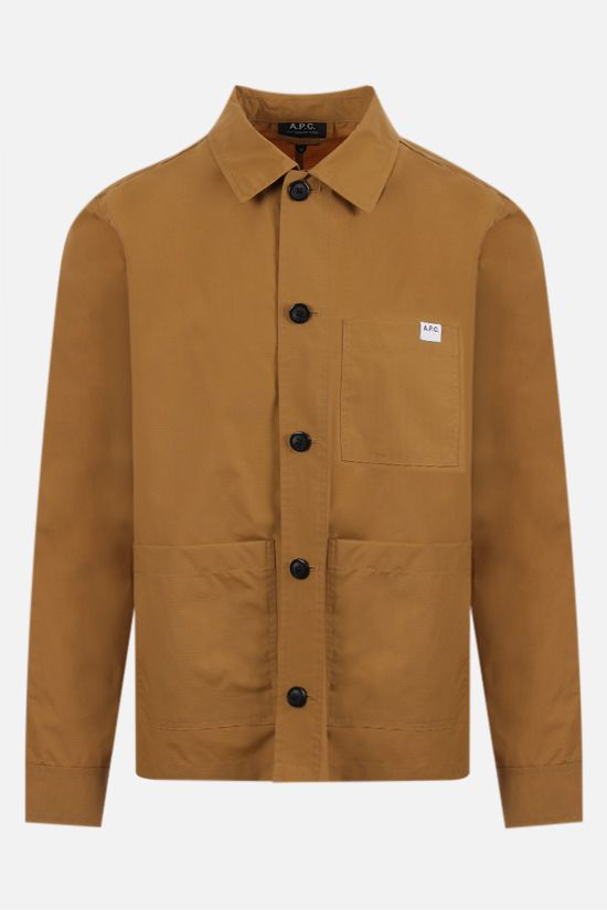 A.P.C.: Nathanael ripstop nylon overshirt Color Brown_1
