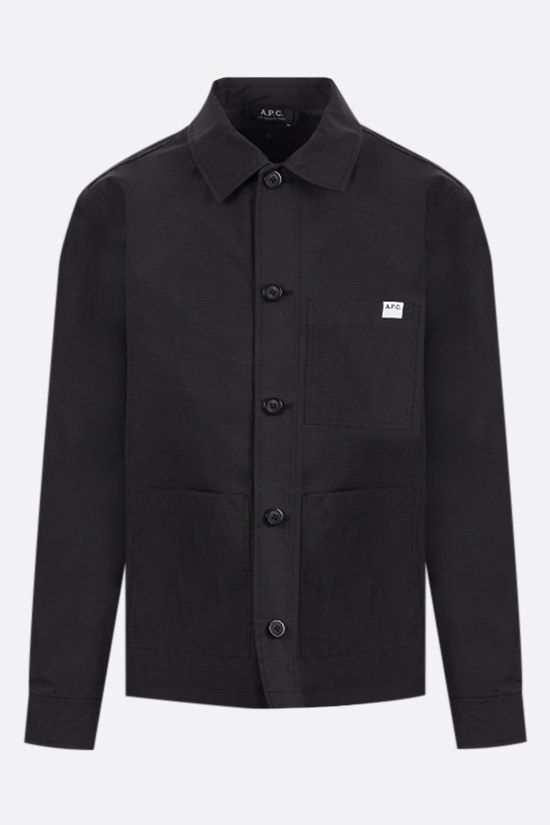 A.P.C.: Nathanael ripstop nylon overshirt Color Black_1