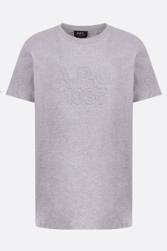A.P.C.: raised logo cotton t-shirt Color Grey_1
