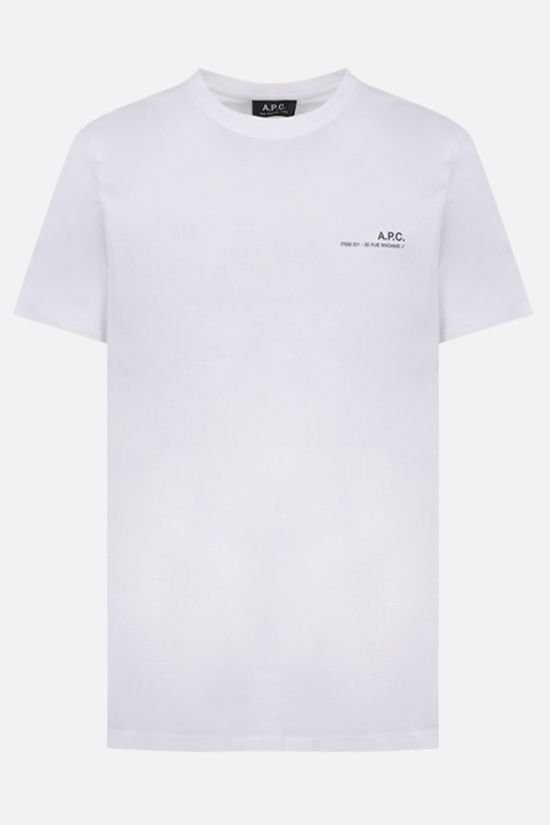 A.P.C.: Item cotton t-shirt Color White_1