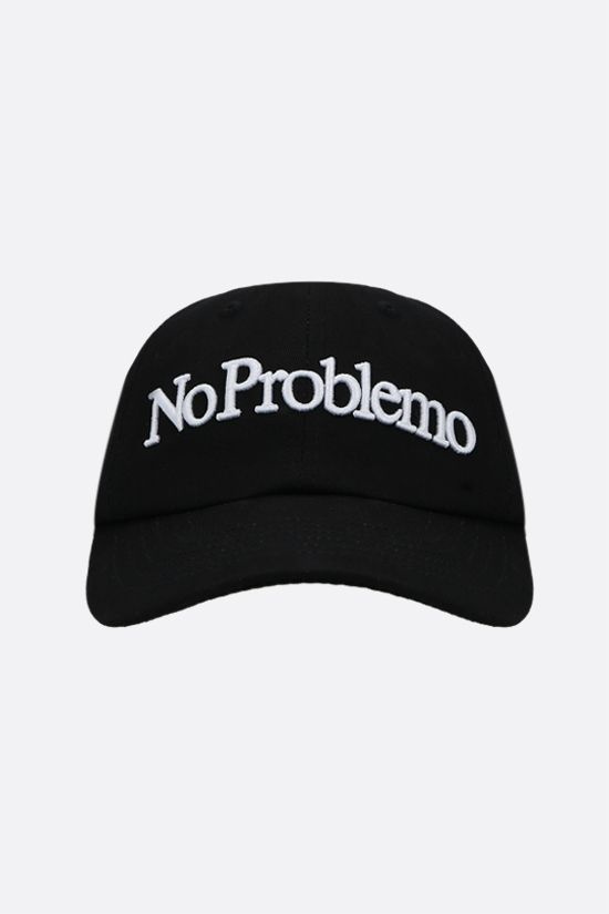 ARIES: No Problemo gabardine baseball cap Color Black_1