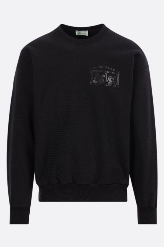 ARIES: Classic Temple cotton sweatshirt Color Black_1