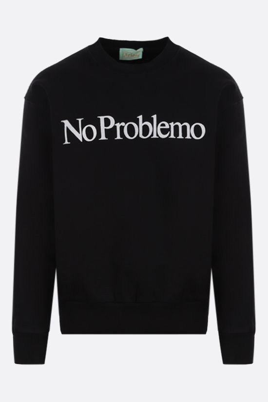 ARIES: No Problemo cotton sweatshirt Color Black_1