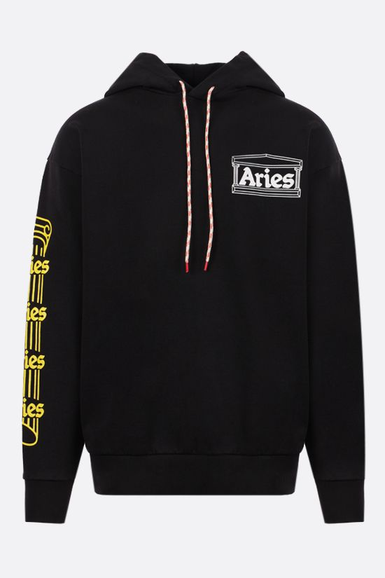 ARIES: Temple cotton hoodie Color Black_1