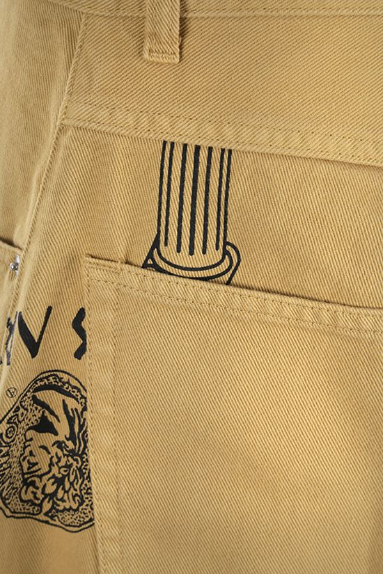 ARIES: jeans stampa Coin Coloumn Colore Brown_4