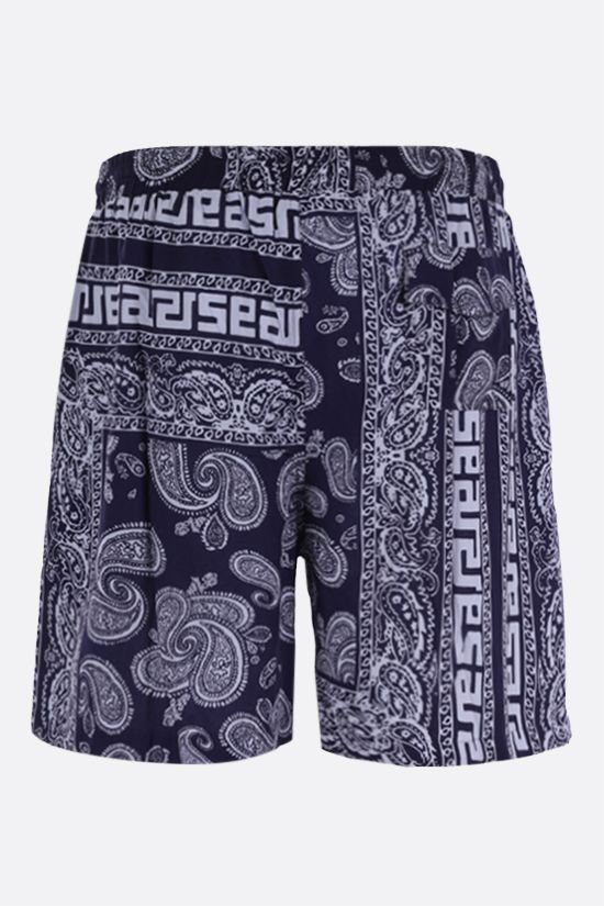 ARIES: Bandana print poplin shorts Color Blue_2