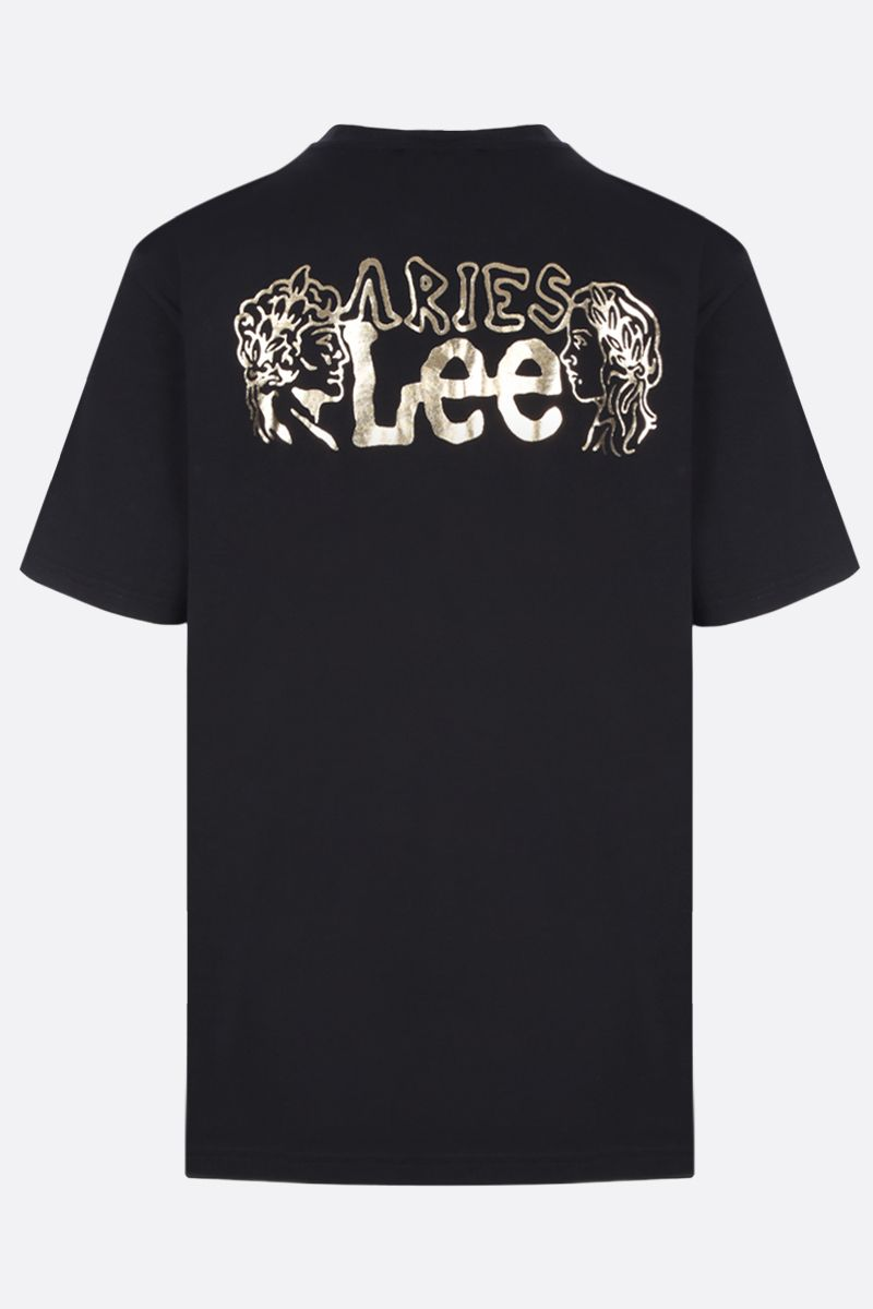 ARIES: t-shirt Lee x Aries Temple in cotone Colore Black_2