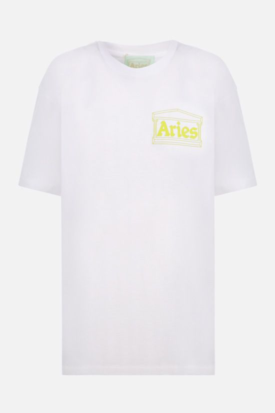 ARIES: Temple cotton t-shirt Color White_1