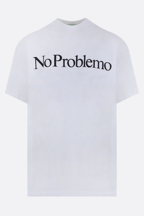 ARIES: No Problemo cotton t-shirt Color White_1