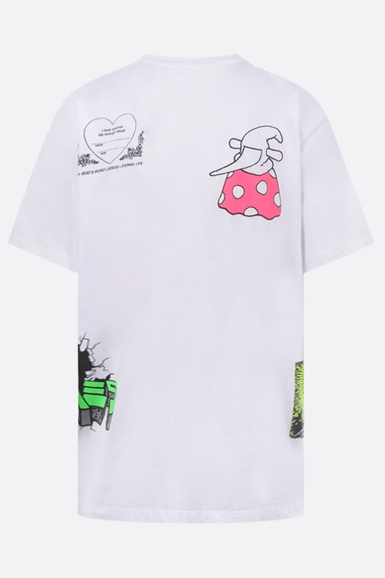 ARIES: Multi cotton t-shirt Color White_2