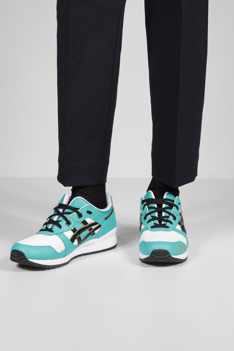 ASICS: Gel-Lyte III OG smooth leather and fabric sneakers Color Blue_2