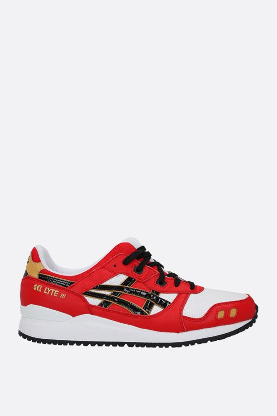 ASICS: Gel-Lyte III OG smooth leather and fabric sneakers Color Red_1