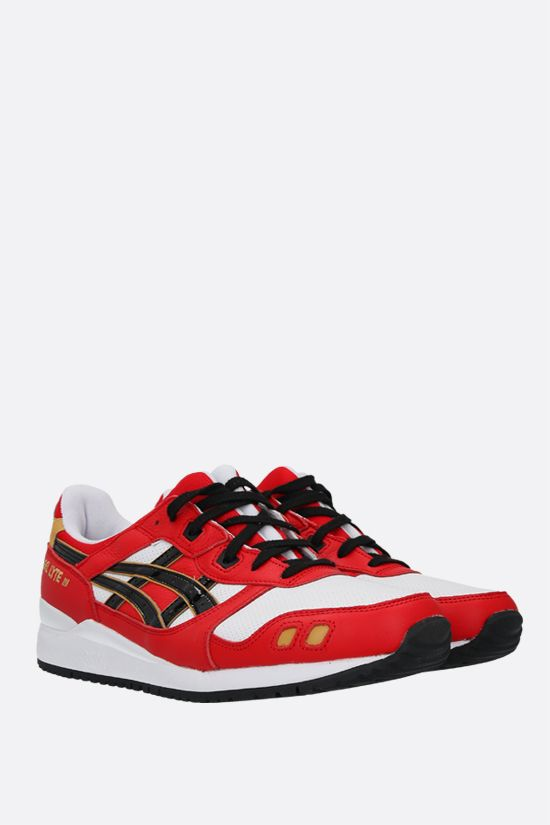 ASICS: Gel-Lyte III OG smooth leather and fabric sneakers Color Red_2