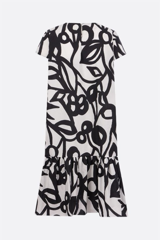 ASPESI: graphic print cotton short dress Color Black_2