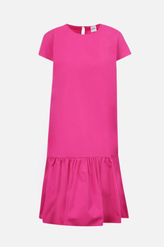 ASPESI: flounce-detailed cotton short dress Color Purple_1