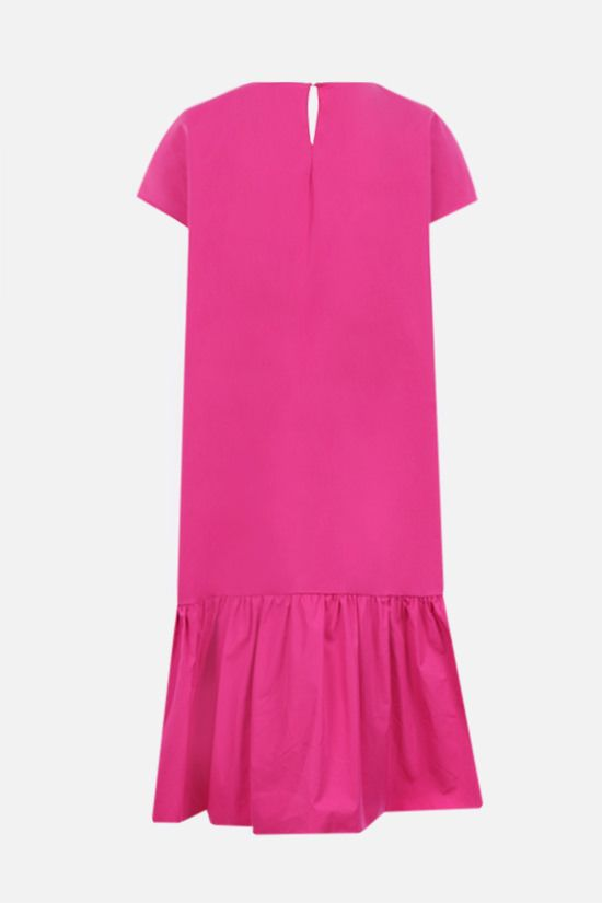 ASPESI: flounce-detailed cotton short dress Color Purple_2