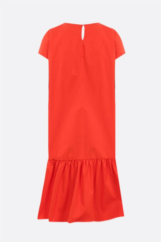 ASPESI: flounce-detailed cotton short dress Color Red_2