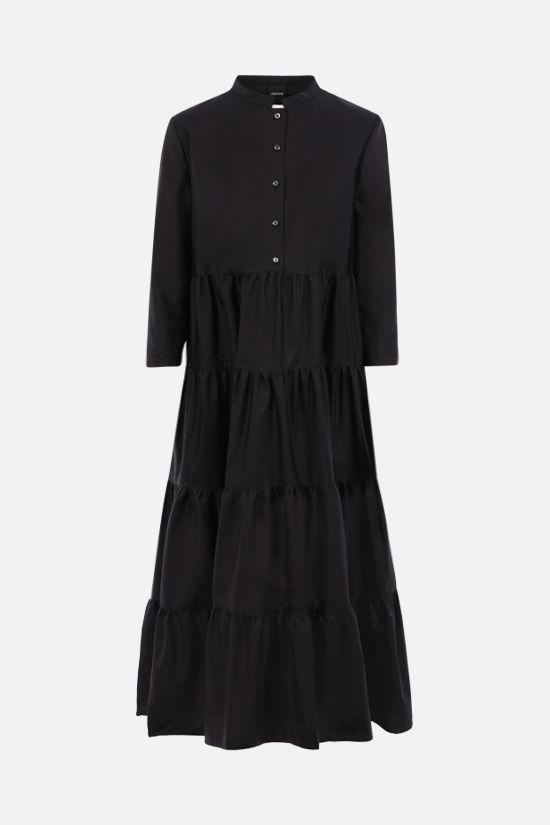 ASPESI: cotton flounced dress Color Black_1