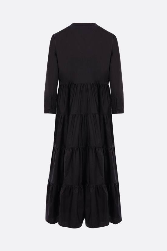 ASPESI: cotton flounced dress Color Black_2