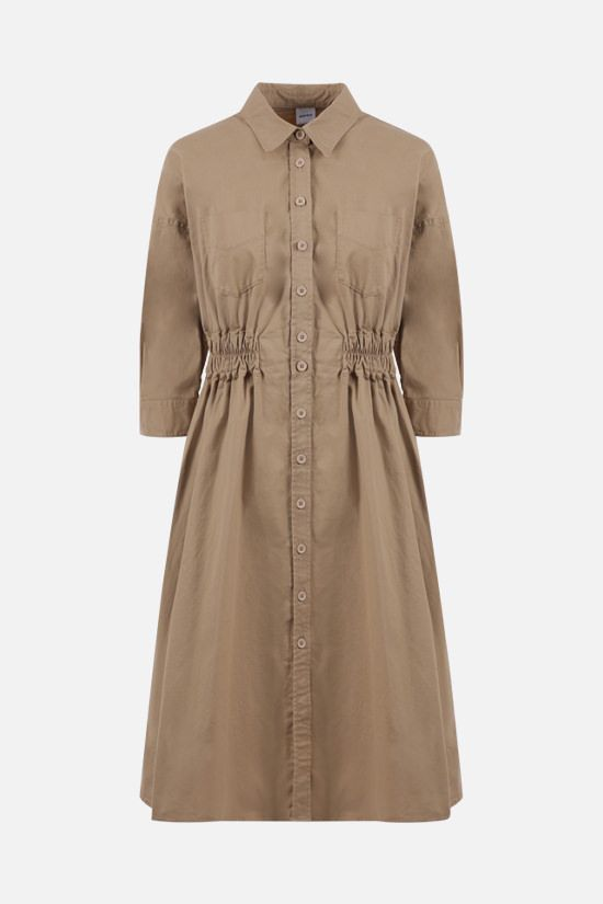 ASPESI: stretch cotton shirt dress Color Neutral_1