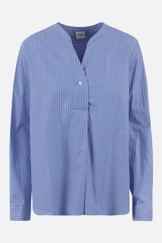 ASPESI: striped cotton blouse Color Blue_1
