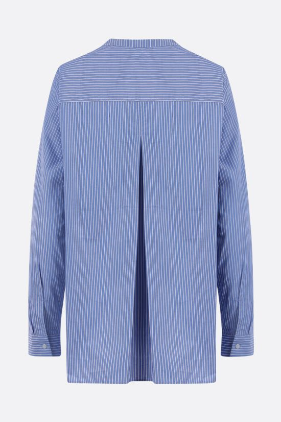 ASPESI: striped cotton blouse Color Blue_2