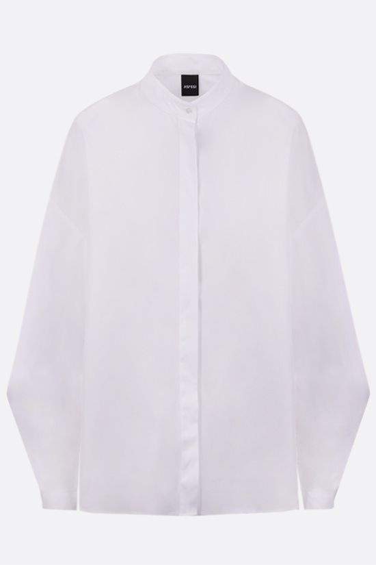 ASPESI: fluted sleeved cotton shirt Color White_1
