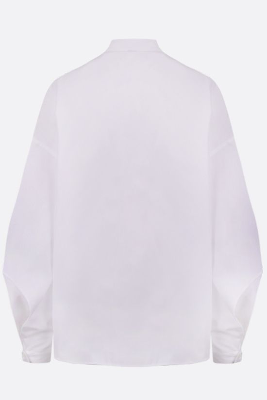 ASPESI: fluted sleeved cotton shirt Color White_2
