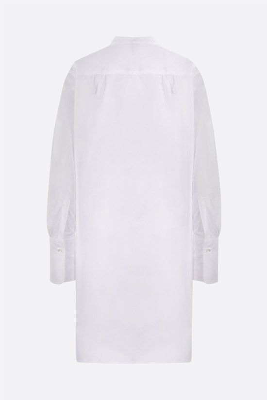 ASPESI: bib-detailed cotton longuette shirt Color White_2